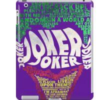 Batman - Joker - Typography iPad Case/Skin