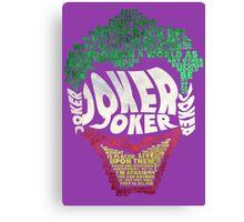 Batman - Joker - Typography Canvas Print