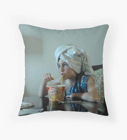 Souper Noodles Throw Pillow