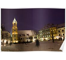 Snowy square Poster