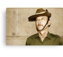 Anzac In Rememberance Canvas Print