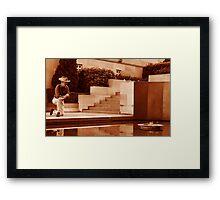 Anzac - Rememberance Flame Framed Print