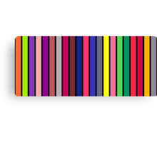 stripe consonants on black Canvas Print