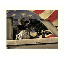 Protect and Defend (American Flag) Art Print