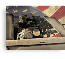 Protect and Defend (American Flag) Metal Print