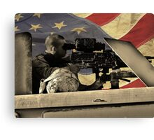 Protect and Defend (American Flag) Canvas Print