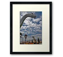Who Invited the Dinosaurs? Framed Print