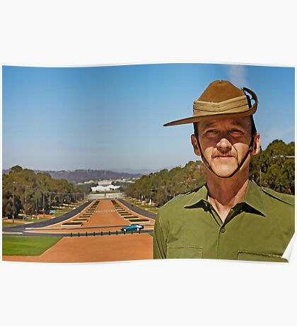 Anzac - Anzac Parade to Parliment House Poster
