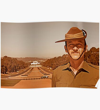 Anzac - Anzac Parade to Parliment House a Poster