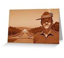 Anzac - Anzac Parade to Parliment House b Greeting Card