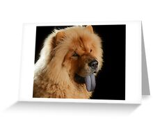 Awesome Chow Chow Greeting Card