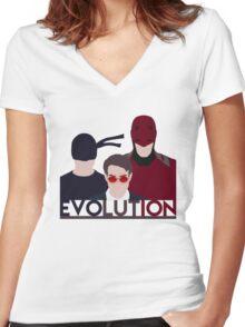 DareDevil 2015 Tv Show - EVOLUTION Women's Fitted V-Neck T-Shirt