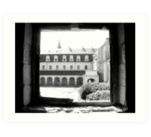 A view from the Abbey Festival Hall in France Art Print