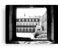 A view from the Abbey Festival Hall in France Canvas Print