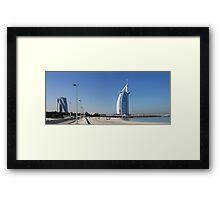 Burj Al Arab, Jumeirah-Beach, Dubai Framed Print