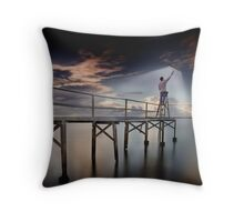 Anti Umbrellas Throw Pillow