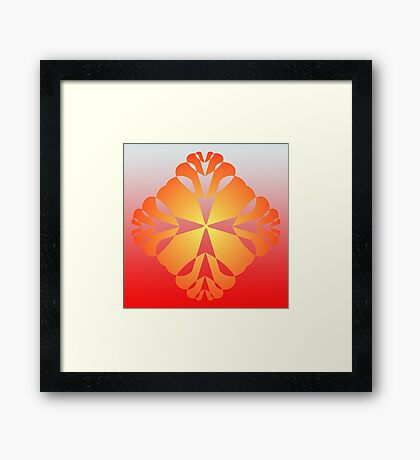 Artistic Multiple Hearts Framed Print