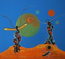 Totem Elders - Original SOLD by BradThurston
