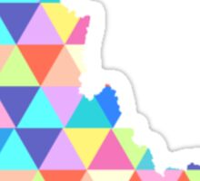 Idaho Colorful Triangles Geometric Hipster Idaho State Sticker