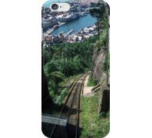 Coming down on funicular from on plateau above Bergen Norway 19840611 0032 iPhone Case/Skin