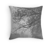 Snow Softly Falling Throw Pillow