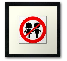 Children Banned Framed Print