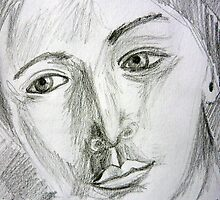 After Picasso - pencil portrait by ChristineBetts
