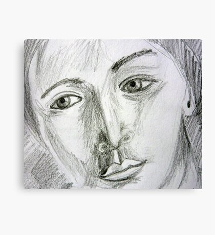 After Picasso - pencil portrait Canvas Print