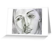 After Picasso - pencil portrait Greeting Card