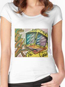 "Funky Chicken by Efrain ""Eskwilax"" Martinez Women's Fitted Scoop T-Shirt"