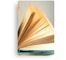 Flipping Pages Canvas Print