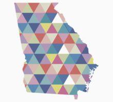 Georgia Colorful Hipster Geometric Triangles Georgia State Atlanta Athens by CorrieJacobs