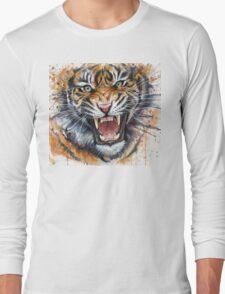 Tiger Watercolor Painting Long Sleeve T-Shirt