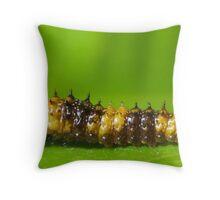 Brown & Yellow Caterpillar Throw Pillow