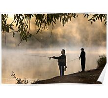 Fishing for Trout - Lake Dayleford Poster