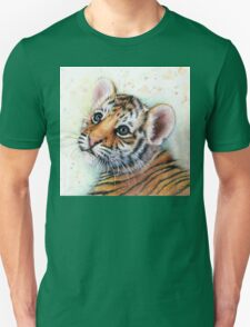 Tiger Cub Watercolor Painting Kids Illustration Nursery Art print T-Shirt