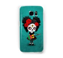 Sugar Skull Girl Playing Cameroon Flag Guitar Samsung Galaxy Case/Skin
