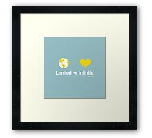 Limited to Infinite Framed Print