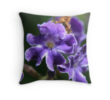 Close up of a purple flower  Throw Pillow