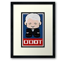 "Bill ""Bubba"" Clinton Politico'bot Toy Robot 2.0 Framed Print"