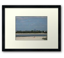 CALOUNDRA BEACH Framed Print