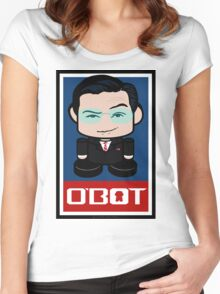 Colbert Politico'bot Toy Robot 2.0 Women's Fitted Scoop T-Shirt