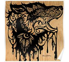 Oil Lace Wolf Poster