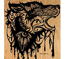 Oil Lace Wolf Photographic Print