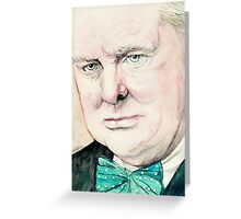 Sir Winston Churchill Greeting Card