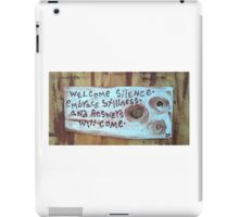 welcome silence embrace stillness iPad Case/Skin