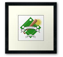 Onett Baseball Bat Logo Framed Print