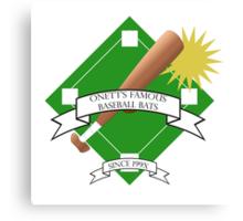 Onett Baseball Bat Logo Canvas Print