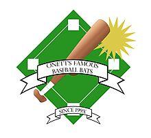 Onett Baseball Bat Logo Photographic Print