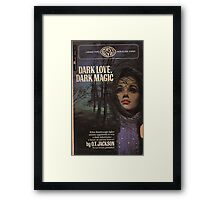 Dark Love, Dark Magic Retro Goth Design Framed Print